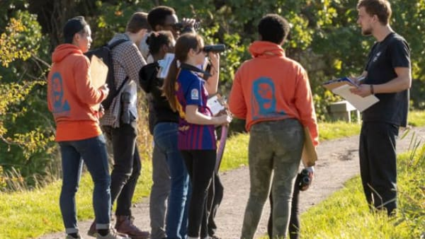 Marys Youth Club looking after the environment on their keeping it wild social action project with Woodberry Wetlands