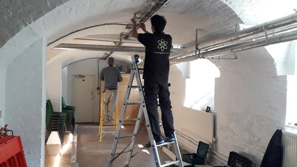 New LED Light Fittings for the Crypt
